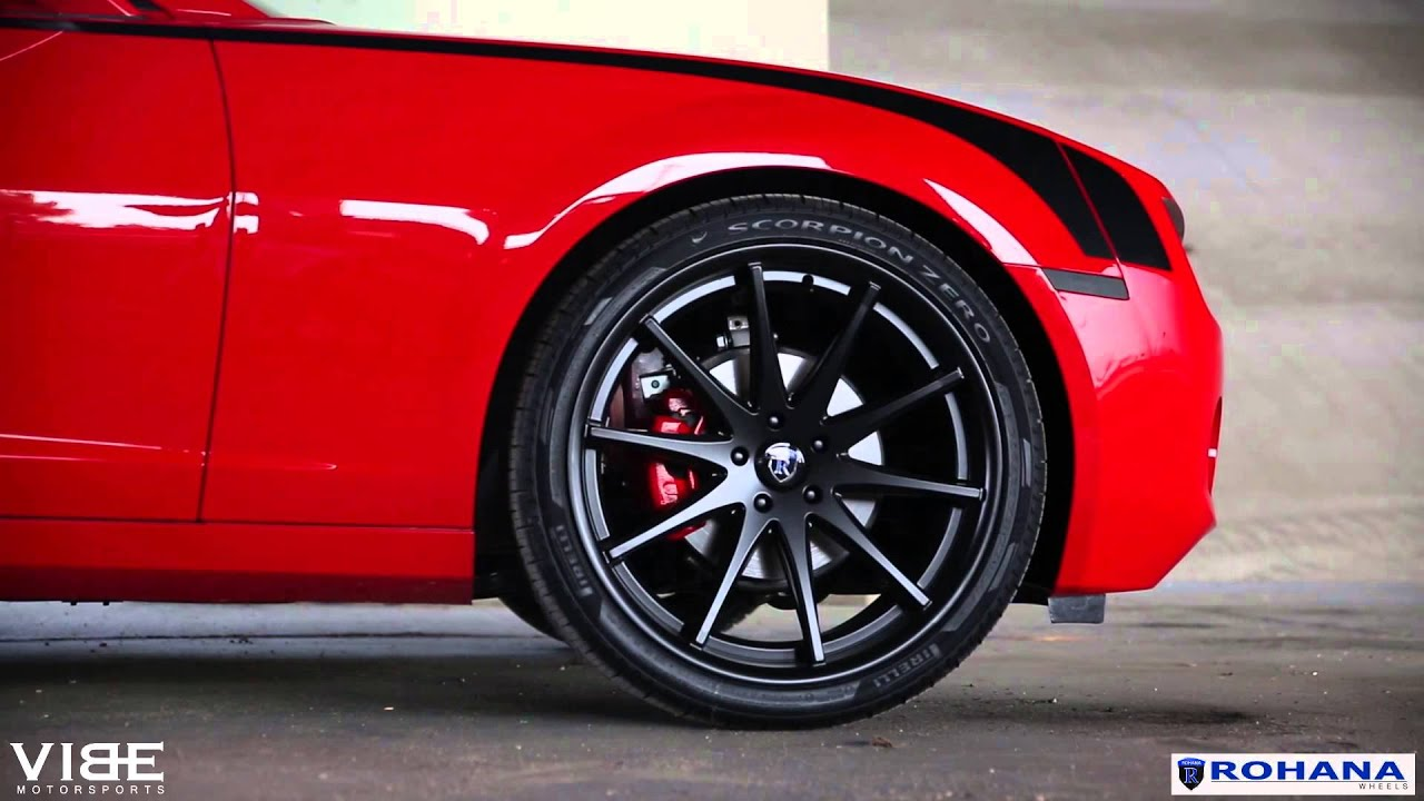 Teaser Chevrolet Camaro On Rohana Rc10 Matte Black Wheels