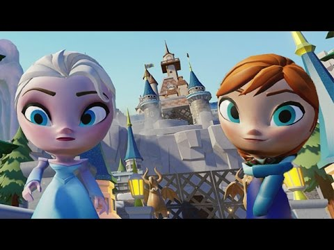 Frozen Elsa and Anna Disney Princess Have Fun in Fantasyland Amusement Rides