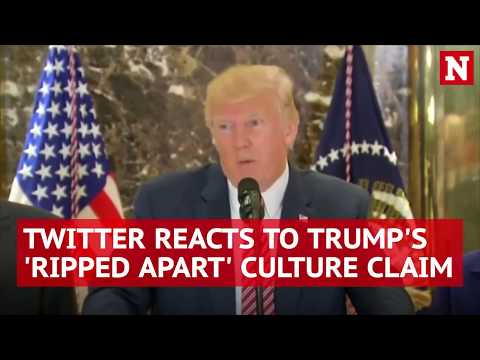 Twitter reacts to President Trump's claim that American culture is being 'ripped apart'