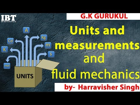 Units and measurements and fluid mechanics | Physics concept, MCQ & tricks for SSC