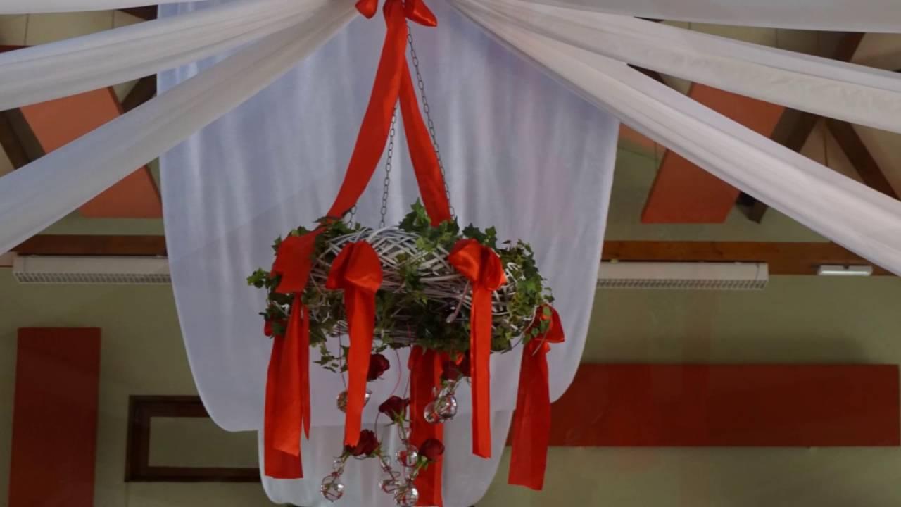 Decoration De Mariage Glamour En Rouge Blanc Et Argent Youtube