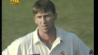 The day Glenn McGrath discovered Pakistan umpires. 2 plumb lbw's turned down.