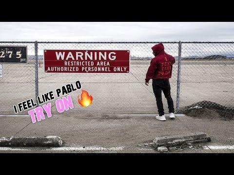 Hype beast: Amazon I Feel Like Pablo ( I feel like Ye) hoodie try on, review and drone footage