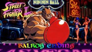 Street Fighter II Turbo - Hyper Fighting - Balrog Ending - Snes