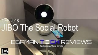First Look - Meet JIBO your social robot that can even twerk! | CES 2018 Day 2