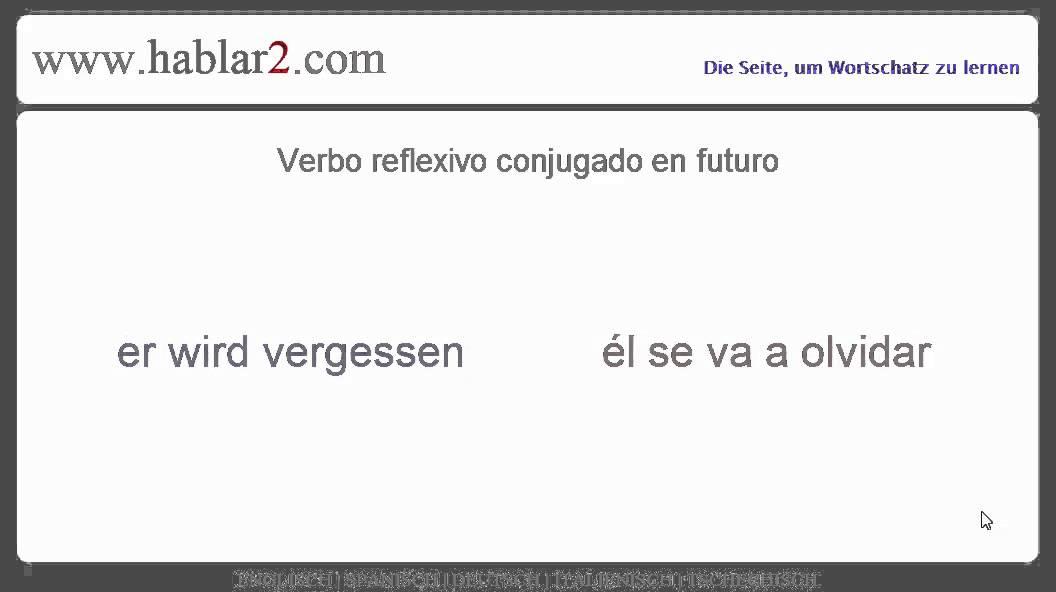 Spanische Aussprache – Reflexives Verb im Futur - YouTube