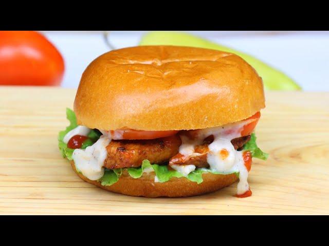 মেয়নিজ/ চীজ ছাড়াই ফাষ্টফুডের চিকেন বাইট বার্গার রেসিপি | Chicken Burger | No meyo,no cheese burger