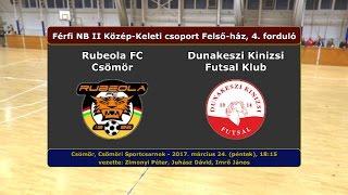 NBII: Rubeola FC Csömör - Dunakeszi Kinizsi 5-4 (2017.03.24, összefoglaló)