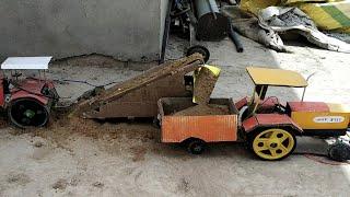 Homemade tractors and troli