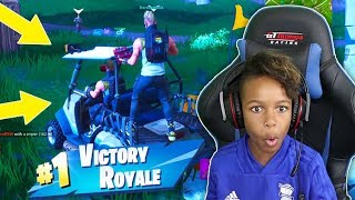 *NEW* FORTNITE VEHICHLE DRIVING WIN with MELLO - SEASON 5 GAMEPLAY