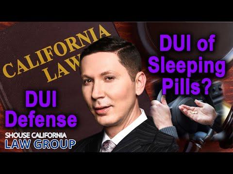 DUI of Sleeping Pills (Ambien, Lunesta, Sonata, Rozerem)