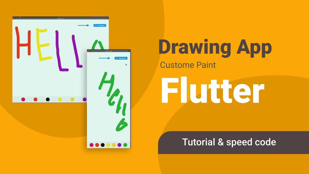 Flutter Custom Painter Tutorial | Build Drawing App - Cool Project