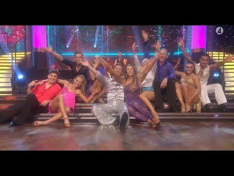 Alla danspar i en discoshow - Let's dance 2018