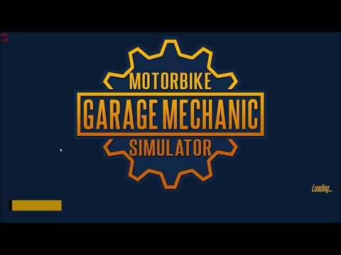 First Look at Motorbike Garage mechanic Simulator  part 1 tutorial