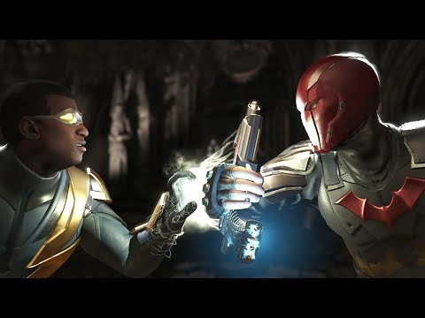 Injustice 2 : Black Lightning Vs Red Hood - All Intro/Outro, Clash Dialogues, Super Moves