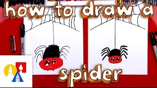 How To Draw A Cartoon Spider And Spider Web