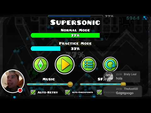 [ON MOBILE] Supersonic 77%... (DIRECTO) en Geometry Dash