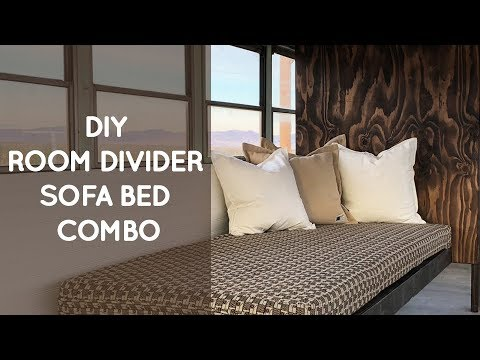 Diy Room Divider Sofa Bed Combo For A School Bus Conversion Youtube