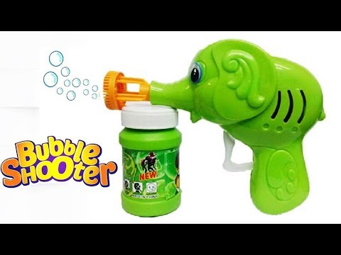 Ben 10 Bubble Gun Elephant Hand Pressing Bubble Gun Toy for Kids with Free Bubble Liquid Tiny Toy