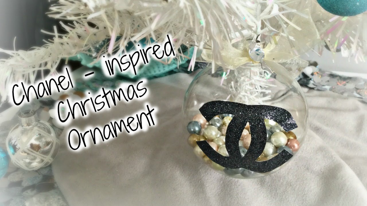 Chanel Christmas Ornaments.Diy Chanel Christmas Ornament