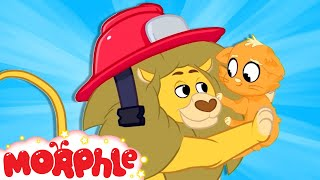 Fireman Cat - My Magic Pet Morphle | Cartoons For Kids | Morphle TV | BRAND NEW