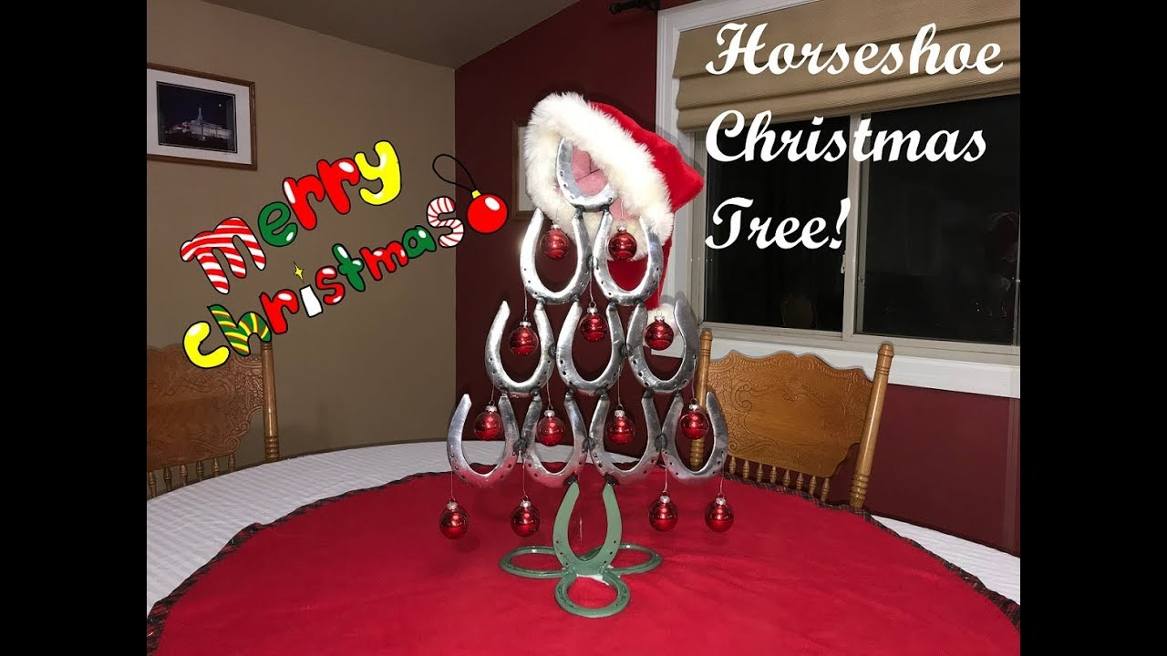 Horseshoe Christmas Tree.How To Make A Horseshoe Christmas Tree