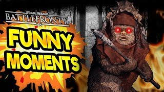 Star Wars Battlefront 2 Funny & Random Moments [FUNTAGE] #54  - INSANE EWOK HUNT PLAY
