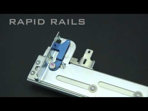 "Rack Rail Mounting Kits Explained - for servers, arrays, KMM, routers mounted in 19"" racks"
