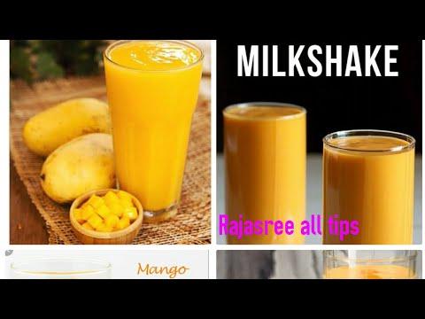 Mango Milkshake Recipe | Homemade Mango Milkshake | Rajasree All Tips