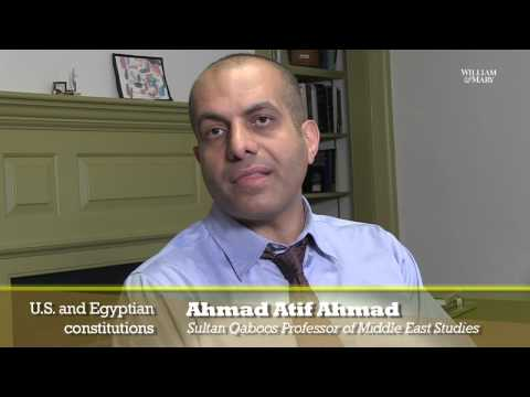 Ahmad: U.S. and Egyptian constitutions