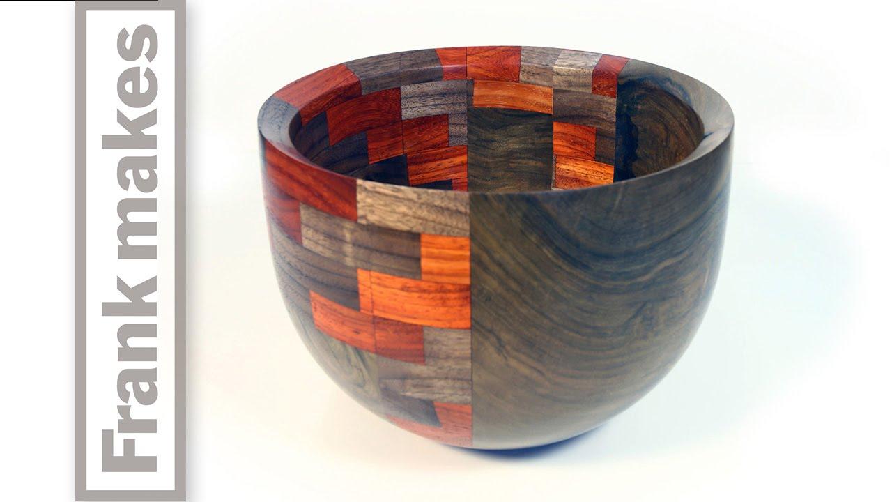 Woodturning A Segmented Walnut Bowl Youtube