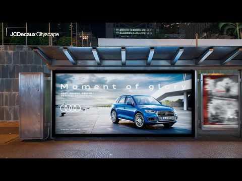 Audi Q5 meets Business Elite through Bus Shelter Advertising   JCDecaux Cityscape