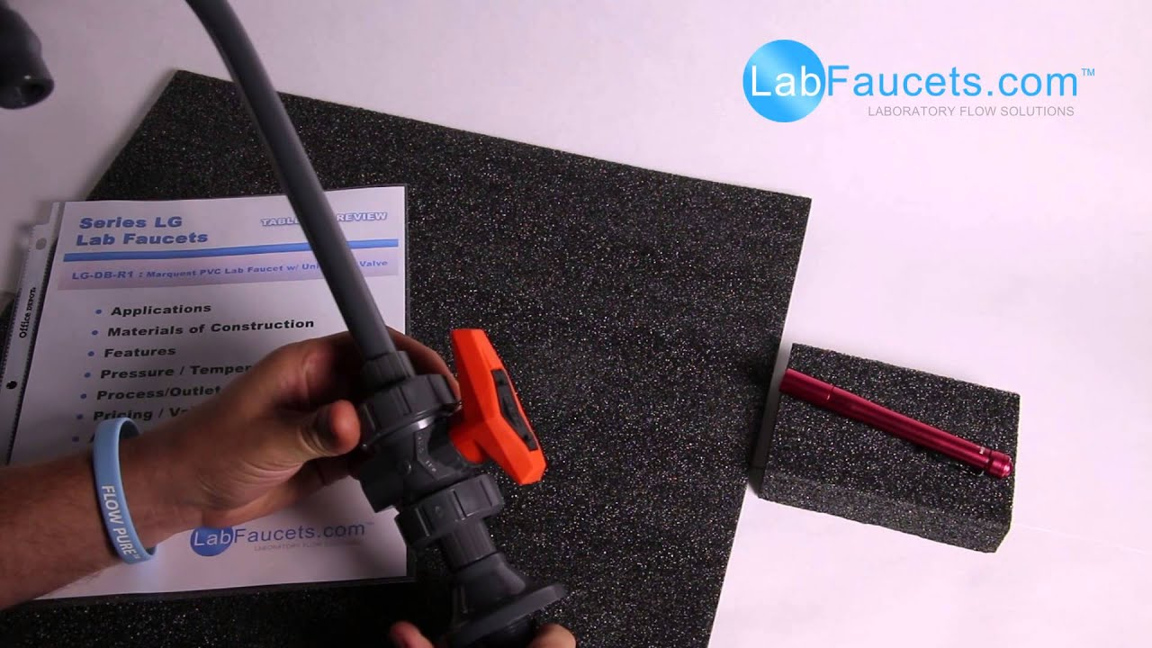 LabFaucets.com :: Marquest LG-DB-R1 : PVC Lab Faucet - YouTube