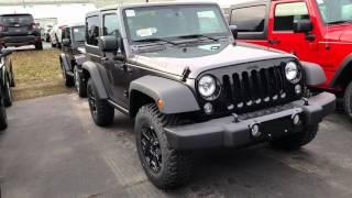 Jeep Wrangler from Dealer lot