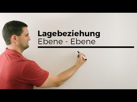 Lage Ebene/Ebene, Parameterformen gleichstellen, Lagebeziehung von Ebenen | Mathe by Daniel Jung