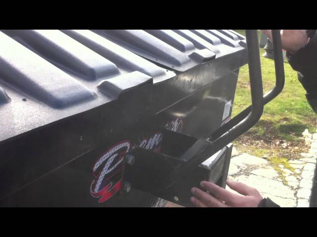 How to Open or Close Garbage Dumpster Lock Bar