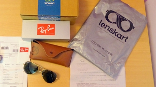 Ray-Ban RB3025 Aviator Sunglasses from Lenskart India - Unboxing, Review & Fake/Real Test(Checkout the Ray-Ban RB3025 L0205 Size:58 Golden Green Aviator Men's Sunglasses from Lenskart India - Unboxing, Review & Fake/Real/Original/Authentic ..., 2017-01-31T06:28:54.000Z)