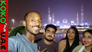 Sheikh Zayed GRAND MOSQUE and WAHAT Al KARAMA in Abu Dhabi with SOMALIA GIRLS (KoKo Tour Vlogs #45)