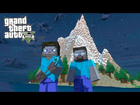 ГТА 5 МОДЫ! МАЙНКРАФТ в GTA 5! ПОИСКИ ХИРОБРИНА НОЧЬЮ на ЗАГАДОЧНОМ ОСТРОВЕ! - Видео из Майнкрафт (Minecraft)
