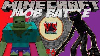 """Mutant zombie vs Mutant enderman Битва мобов в Minecraft! """"Mob Battle"""""""