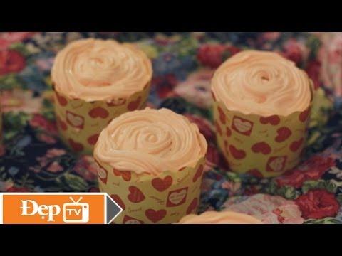 Làm bánh Cupcake hoa hồng - Le Media JSC [Official]