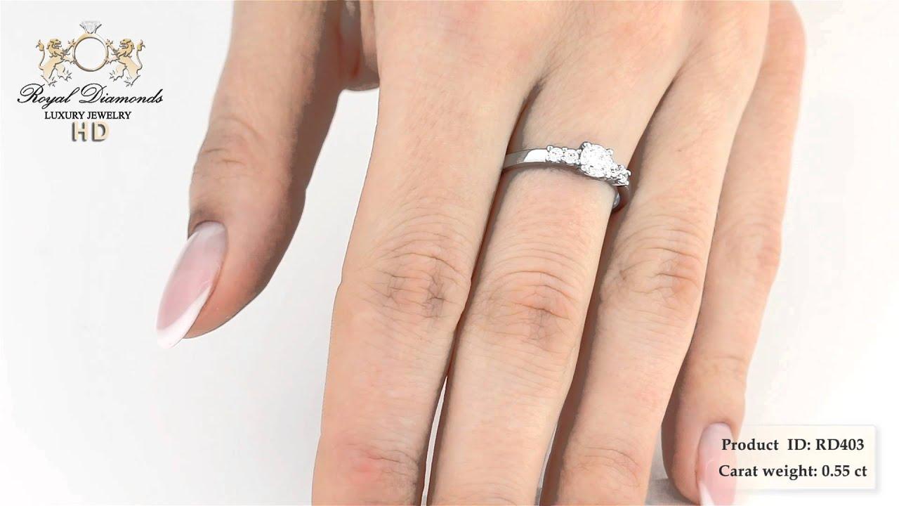 Verlobungsringe Rd403w 18kt Weissgold Ring Mit Einem Brillanten