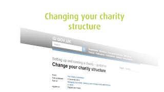 Changing your charity structure