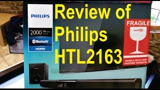 Review of Philips HTL2163 soundbar and sub woofer