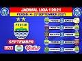 Jadwal Persib Liga 1 2021 - Persib vs Barito - Persita vs Persib - Bali utd vs Persib -Live Indosiar
