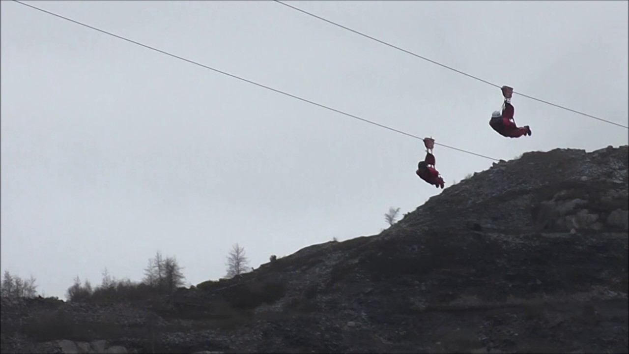 ZIP WIRE Bethesda Wales - YouTube