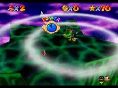 Super Mario 64 final Bowser fight