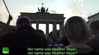 Hundreds attend 'Berlin Stands with Charlottesville' demo