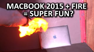 PYRO Fireshooter - Is the Macbook 2015 Flammable?