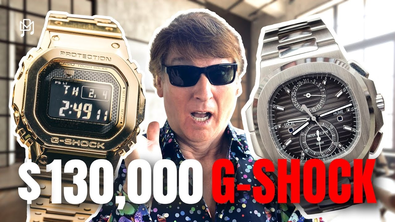 SOLID GOLD G-SHOCK WORTH AS MUCH AS A PATEK?!?